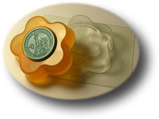 Пластиковая глю-база для мыла Цветок-круг